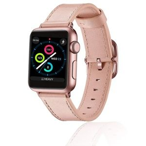 Accessories - Apple Watch Band 38mm Leather Pink